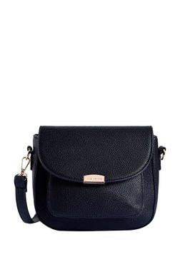 f592f3b51f4d Lino Perros Navy Solid Flap Sling Bag