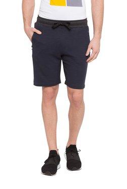 Globus Navy Mid Rise Cotton Shorts