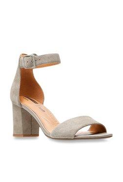 9a63c43531d Clarks Deva Mae Grey Ankle Strap Sandals