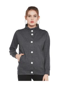 The Vanca Dark Grey Textured Fleece Jacket