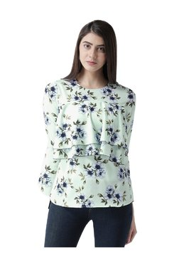 MsFQ Green Floral Print Layered Top