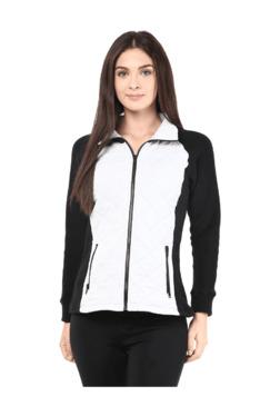 The Vanca Black & White Quilted Fleece Jacket