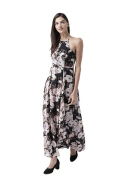 MsFQ Black & Off White Floral Print Maxi Dress