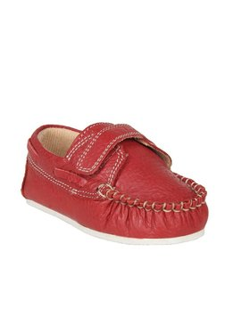 Beanz Kids Aaron Red Leather Loafers
