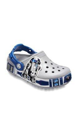 266177c4adff Crocs Kids Crocband Star Wars R2-D2 Light Grey Back Strap Clogs