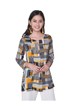df2e04a55bd Buy Global Desi Tops & Tunics - Upto 70% Off Online - TATA CLiQ