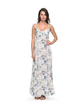 Roxy White Floral Print Maxi Dress