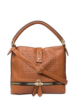 Globus Tan Cut Work Shoulder Bag