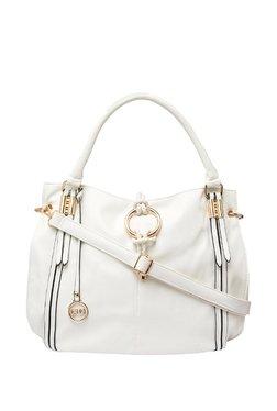 Globus White Solid Shoulder Bag