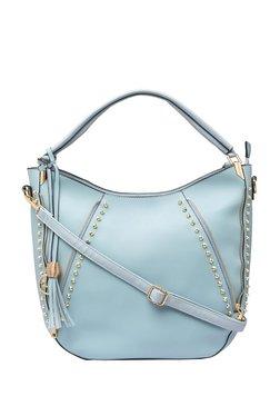Globus Ice Blue Riveted Hobo Shoulder Bag