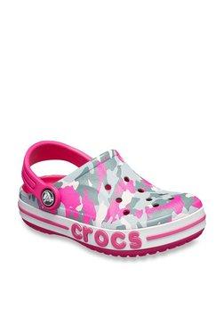 fed1ce6582dd Crocs Kids Bayaband Graphic Candy Pink Back Strap Clogs