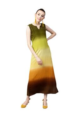 Gerua Multicolor Ombre Maxi Dress