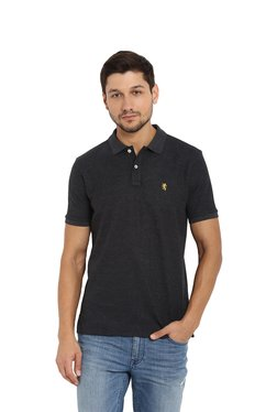 Red Tape Anthra Melange Polo T-Shirt