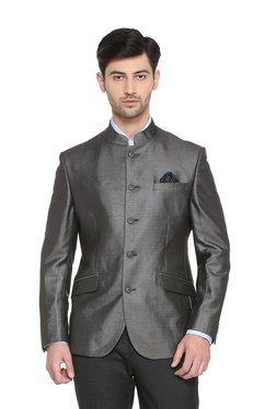 People Dark Grey Full Sleeves Jacket