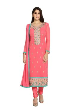 Soch Pink Floral Print Georgette Suit Set - Mp000000003629079