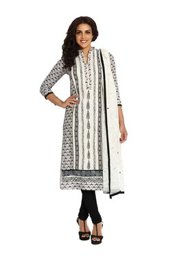 Soch Black & White Printed Cotton Suit Set