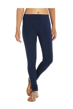 Soch Navy Slim Fit Cotton Lycra Leggings