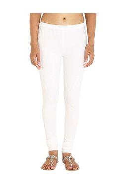 Soch White Slim Fit Cotton Lycra Leggings