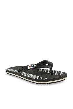 52bf815f18be4 Fila Check Black   Dark Grey Flip Flops