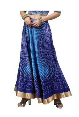 Juniper Blue Printed Maxi Skirt