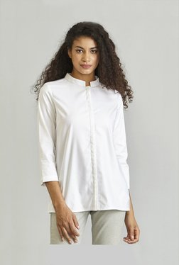 FableStreet White Cotton Shirt 830d96794