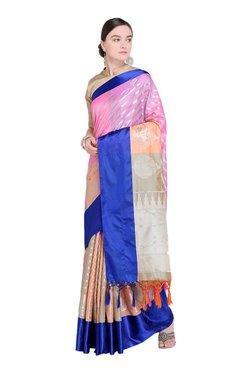 Varkala Silk Sarees Multicolor Stripes Saree With Blouse