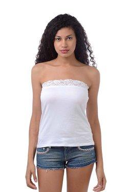 3875272c969 Da Intimo White Lace Pattern Camisole