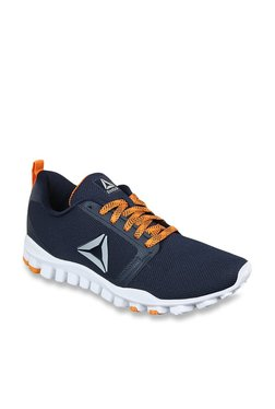30712525a6ed39 Reebok Realflex Runner Navy Running Shoes