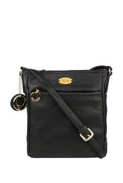 Hidesign Lucia 03 Black Solid Leather Sling Bag