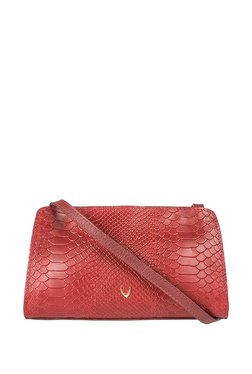 Hidesign Ee Floriana W1 Red Textured Leather Sling Bag