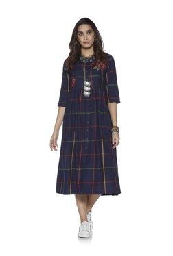 eb985e00b7ffd Bombay Paisley by Westside Indigo Fit-And-Flare Dress