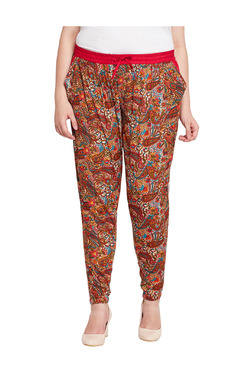 Oxolloxo Red Straight Fit Pants