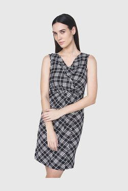 8b140ec802 AND Black Checks Above Knee Dress
