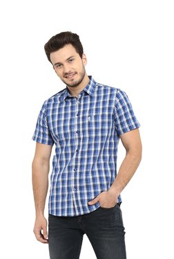987f8a5617f Red Tape Blue Regular Fit Cotton Shirt