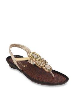 0c45574af04c5 Catwalk Golden Sling Back Sandals
