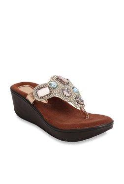 d4d60ea26555d0 ... Catwalk Copper Thong Wedges discount sale c6b6a d1ec3  Catwalk womens  casual slipon wedge sandal ...