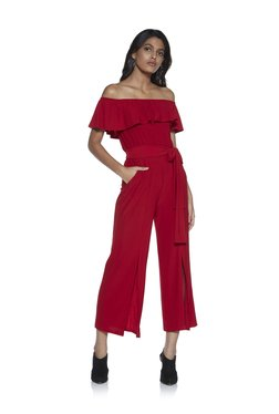 37c23a4e538 Nuon by Westside Red Tokie Jumpsuit With Belt
