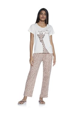 44716921e12a2 Wunderlove by Westside Brown T-Shirt And Pyjama Set