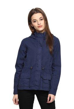 People Navy Cotton Full Sleeves Jacket