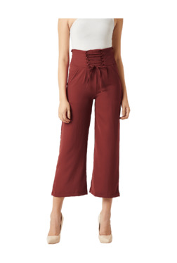 Miss Chase Brown Drawstring Pants