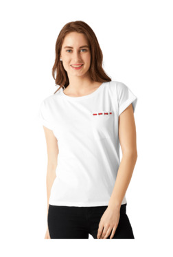 Miss Chase White Round Neck T-Shirt - Mp000000003931026