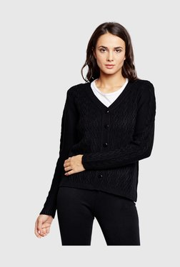 MADAME Black Textured Cardigan 2d5ace77f