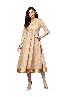 Juniper Beige Embroidered Maxi Dress