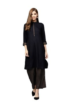 Juniper Black Kurti With Palazzos