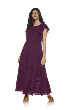 0500f387e3 LOV by Westside Berry Victoria Tiered Dress