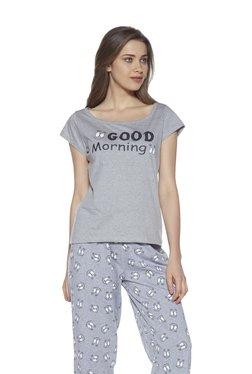 5df4ed258 Zudio Grey Print Cotton T-Shirt