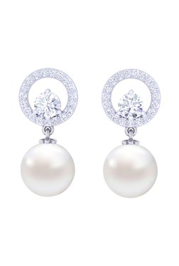 f3f126acf Silver Earrings | Buy Silver Earrings Online in India at Tata CliQ