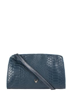 Hidesign Ee Floriana W1 Navy Textured Leather Sling Bag