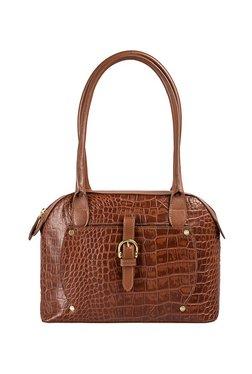 Hidesign Mercury 01 Sb Brown Textured Leather Shoulder Bag