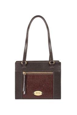 Hidesign Libra 01 Sb Brown Textured Leather Shoulder Bag